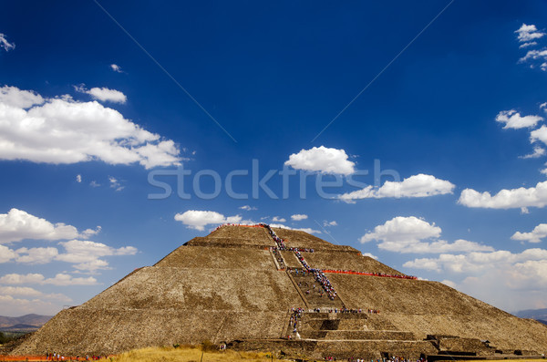 Pyramid of the Sun and Blue Sky Stock photo © jkraft5