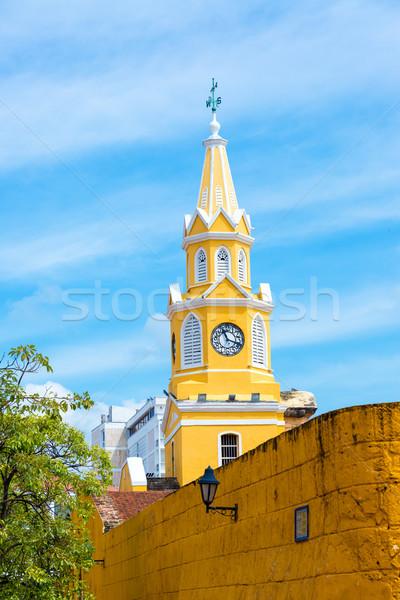 Cartagena Clock Tower Stock photo © jkraft5