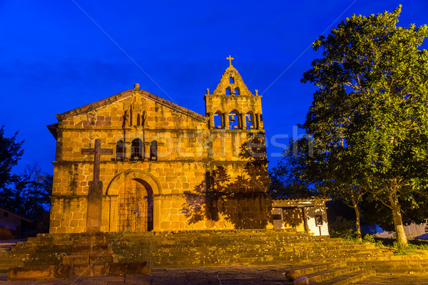 Iglesia azul hora Colombia viaje Foto stock © jkraft5