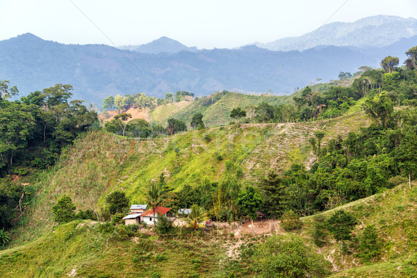 Green Hilly Landscape Stock photo © jkraft5