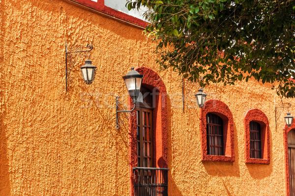 оранжевый колониальный стены красный город домой Сток-фото © jkraft5