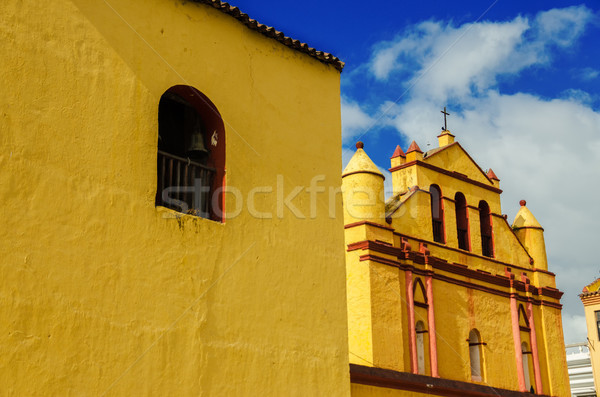 Yellow Colonial Church Stock photo © jkraft5
