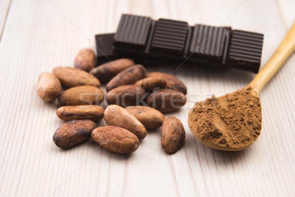 Kakao fasulye çikolata bitki yemek tahıl Stok fotoğraf © joannawnuk