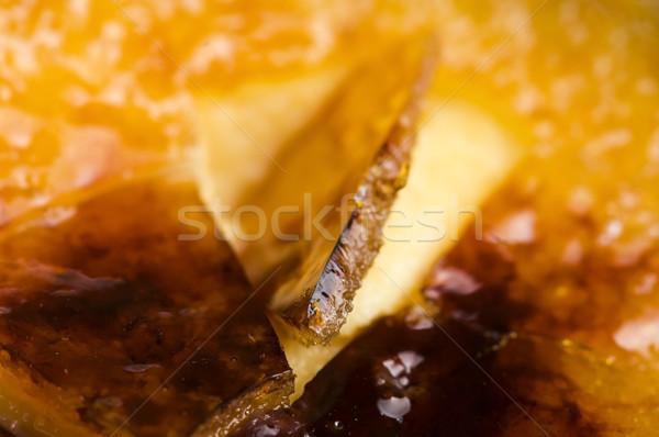 Frans dessert room ei restaurant eten Stockfoto © joannawnuk