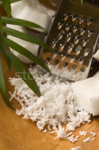 ココナッツ おろし金 ナット 手のひら シェル 熱帯 ストックフォト © joannawnuk