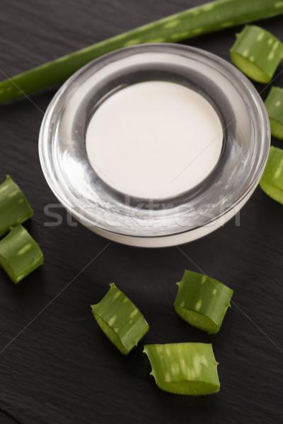 Foto stock: Aloés · folhas · creme · natureza · corpo · folha