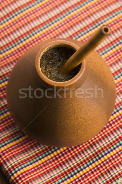 Compagno legno salute bere tè impianto Foto d'archivio © joannawnuk