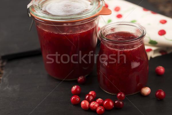 Cranberry jelly dessert Stock photo © joannawnuk