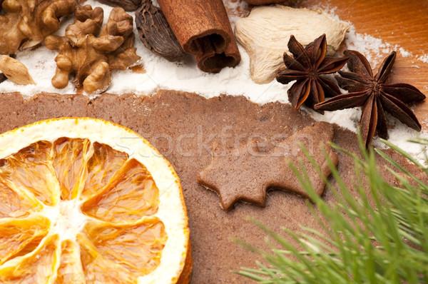Natal sobremesa colher celebração doce Foto stock © joannawnuk