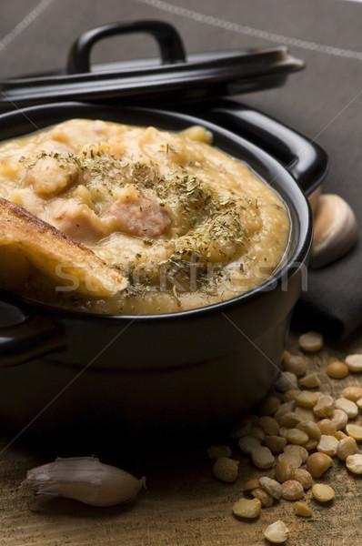 Grochowka - Polish Pea Soup Stock photo © joannawnuk