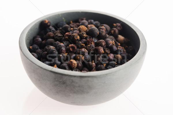 Juniper berries on white background Stock photo © joannawnuk