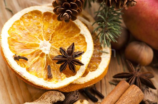 Сток-фото: различный · специи · орехи · сушат · апельсинов · Рождества