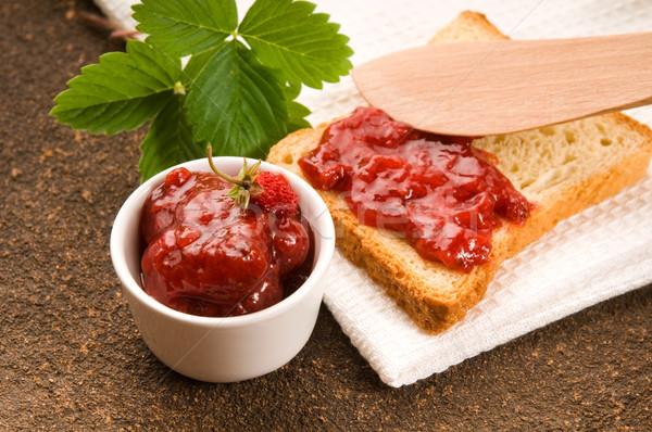 Foto stock: Atasco · brindis · alimentos · frutas · vidrio