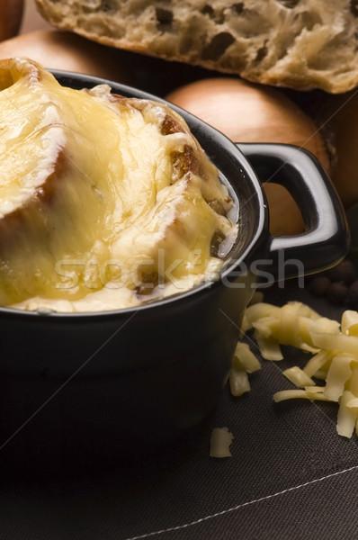 Frans ui soep ingrediënten voedsel diner Stockfoto © joannawnuk