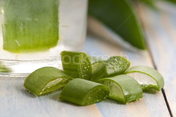 aloe vera juice with fresh leaves Stock photo © joannawnuk