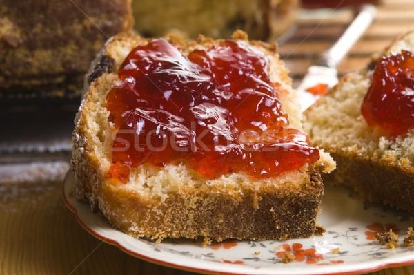 Traditional Polish Cake with apple marmelade Stock photo © joannawnuk
