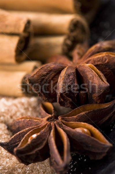 aromatic spices with brown sugar Stock photo © joannawnuk