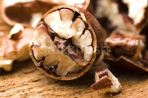 орехи природы оболочки свежие трещина здорового Сток-фото © joannawnuk