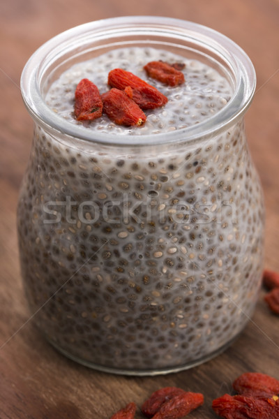 Chia seed pudding Stock photo © joannawnuk