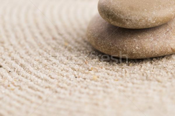 Stock fotó: Mini · zen · kert · absztrakt · homok · kő
