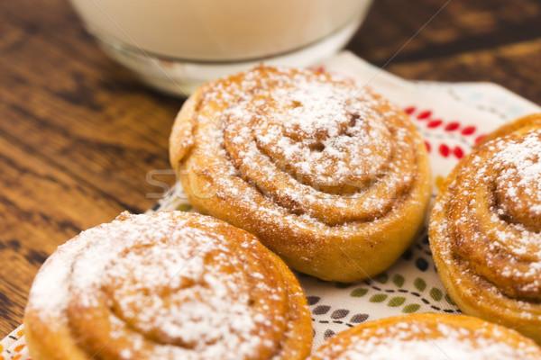 酵母 シナモン 食品 背景 ケーキ ストックフォト © joannawnuk