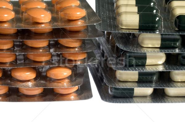 pills on white background Stock photo © joannawnuk