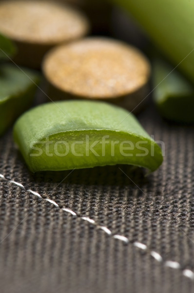 Stock foto: Aloe · Anlage · Pillen · Kräutermedizin · Natur · Glas