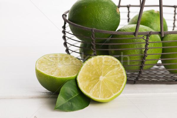 Fresh limes Stock photo © joannawnuk