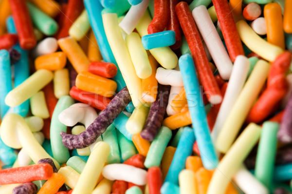 macro of rainbow sprinkles Stock photo © joannawnuk