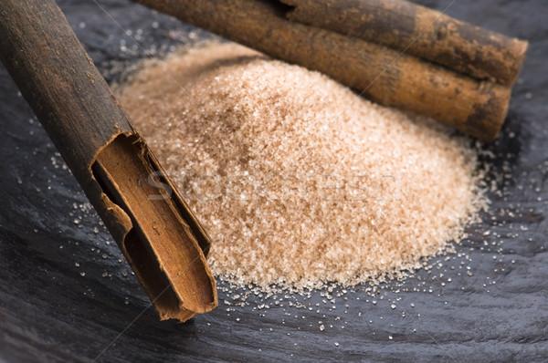 Aromatik baharatlar esmer şeker tarçın arka plan enerji Stok fotoğraf © joannawnuk