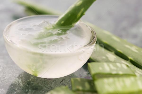 Stock fotó: Aloe · dzsúz · friss · levelek · egészség · olaj