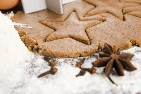Preparing gingerbread cookies for christmas Stock photo © joannawnuk
