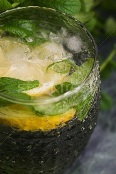 おいしい 冷たい 新鮮な ドリンク レモネード レモン ストックフォト © joannawnuk