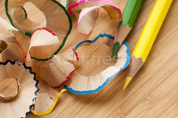 Sharpened pencil and wood shavings  Stock photo © joannawnuk