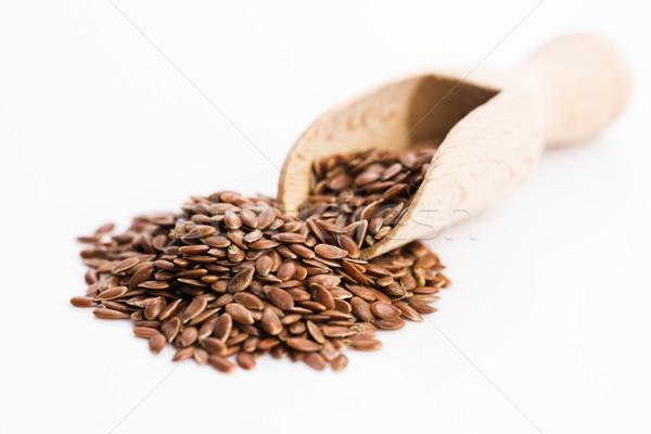 Flax seeds, Linseed, Lin seeds close-up Stock photo © joannawnuk