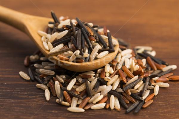 Karışık pirinç gıda Asya Japon tohum Stok fotoğraf © joannawnuk