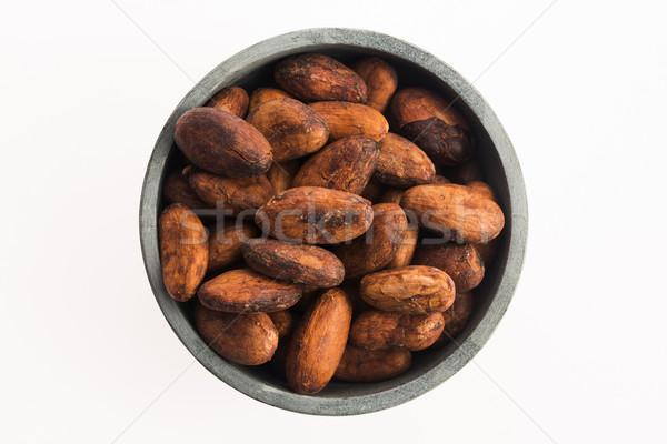 Kakao fasulye çikolata pişirmek tohum tahıl Stok fotoğraf © joannawnuk