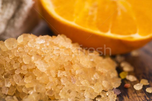 オレンジ 果物 木材 マッサージ スパ ストックフォト © joannawnuk