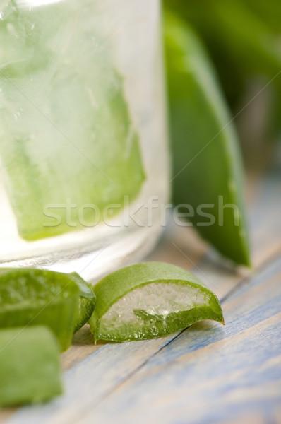 Stock fotó: Aloe · dzsúz · friss · levelek · természet · levél