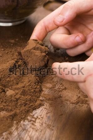 Homemade chocolate truffles Stock photo © joannawnuk