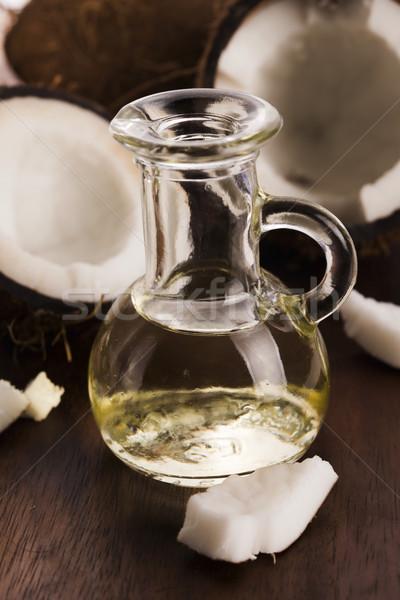Cocco olio alternativa terapia Palm verde Foto d'archivio © joannawnuk