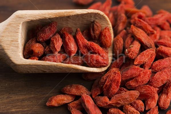 Dried goji berries Stock photo © joannawnuk