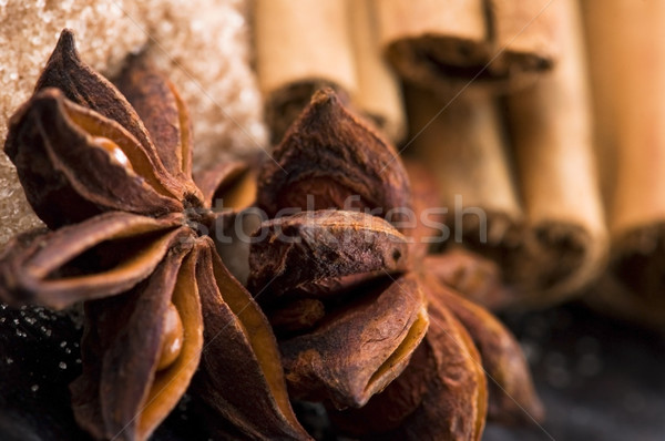 Aromático temperos açúcar mascavo fundo energia cor Foto stock © joannawnuk