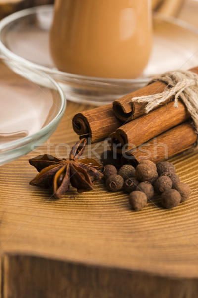 葉 茶 黒 インド 健康 スパイス ストックフォト © joannawnuk