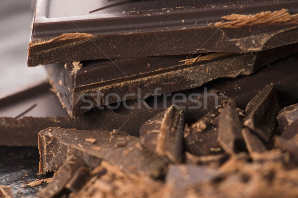 Foto stock: Picado · chocolate · bar · leche · dulces · comer
