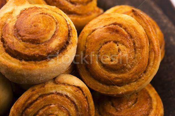Gist kaneel voedsel achtergrond cake Stockfoto © joannawnuk