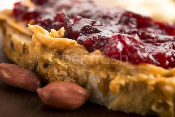 Арахисовое масло желе сэндвич продовольствие здоровья хлеб Сток-фото © joannawnuk