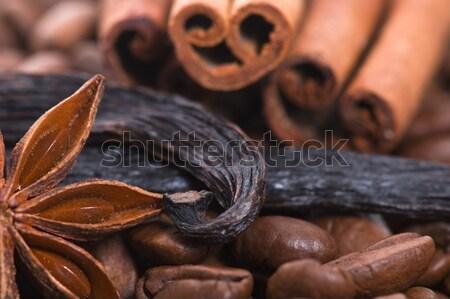 Lezzet kahve malzemeler anason kahve çikolata Stok fotoğraf © joannawnuk