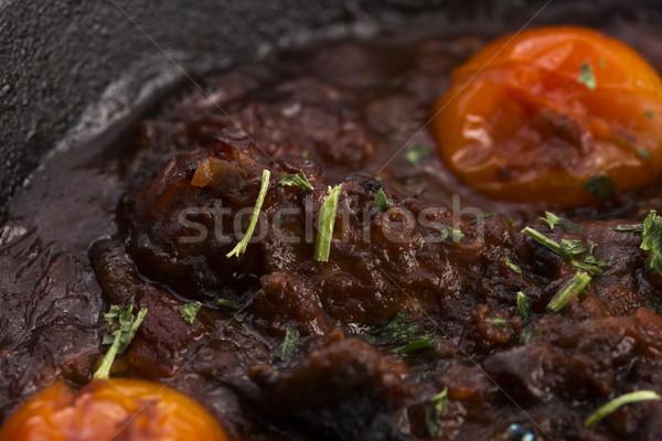 Ahtapot domates sosu gıda hayat domates stüdyo Stok fotoğraf © joannawnuk