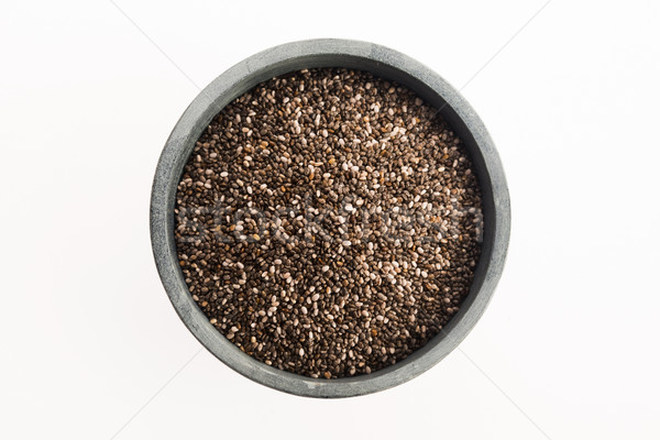 chia seeds isolated on white Stock photo © joannawnuk